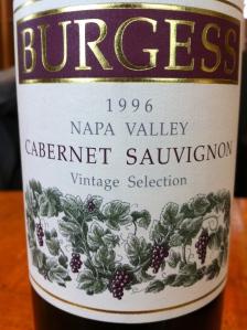burgess cellars 1996