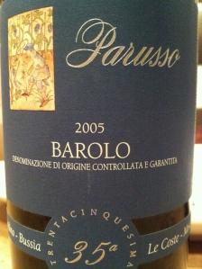 parusso barolo 2005