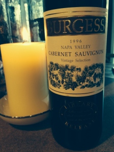 The last '96 Burgess from the cellar