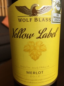 wolf glass yellow label merlot