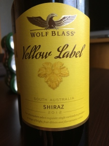 wolf glass yellow label shiraz