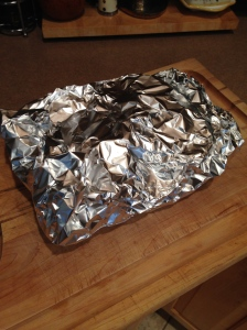 Tented in foil for 4 hours