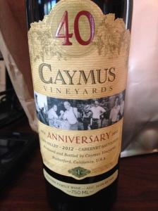 caymus napa valley cabernet sauvignon anniversary edition