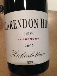 clarendon hills syrah hickinbotham