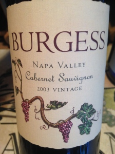burgess cellars cabernet sauvignon