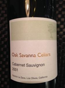 oak savanna cabernet sauvignon