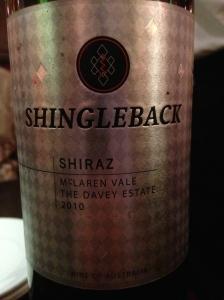 shingleback davy estate shiraz