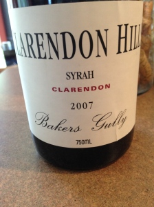 bclarendon hills bakers gully syrah