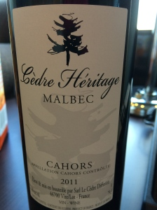 cedre heritage malbec cahors