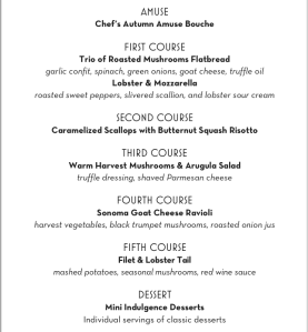 The Chef's Menu