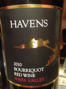 havens bourricot red wine napa valley