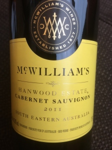 mcwilliams hamwood cabernet sauvignon