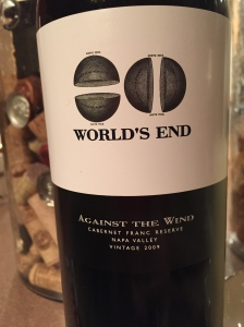 Worlds End Cabernet Franc Reserve Against The Wind
