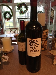 The magnum of Naughty Dragon, drinking beautifully
