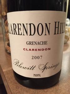 clarendon hills blowout springs grenache
