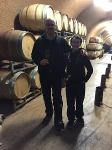 Me and Jet, checking out the cellar