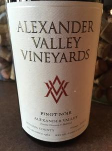 alexander valley vineyards pinot noir