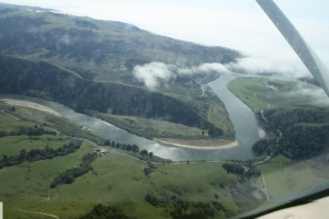 The Russian River, from above