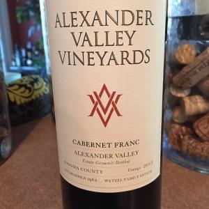 alexander valley vineyards cabernet franc