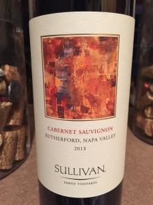 Sullivan 2013  Rutherford Napa Valley  Cabernet Sauvignon
