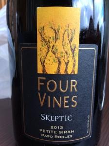 four vines skeptic petite sirah