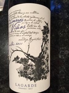 lagarde primeras vinas malbec