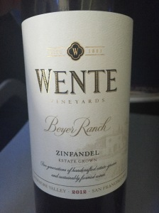 wente beyers ranch zinfandel