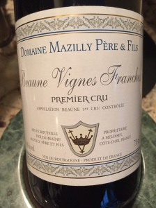 Domaine Mazilly Pere & Fils Beaune Vignes Franches 1er Cru 2010