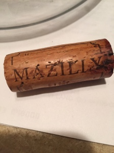 The cork was really dark and interesting.