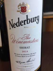 nederburg the winemaster shiraz